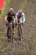 BELGIUM / NAMEN / NAMUR / CYCLING / WIELRENNEN / CYCLISME / CYCLOCROSS / CYCLO-CROSS / VELDRIJDEN / WERELDBEKER / WORLD CUP / COUPE DU MONDE / U23 / (L-R) MATHIEU VAN DER POEL (NED) / LAURENS SWEECK (BEL) /