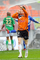 FOOTBALL - FRENCH CHAMPIONSHIP 2009/2010 - L1 - FC LORIENT v AS SAINT ETIENNE - 28/03/2010 - PHOTO PASCAL ALLEE / DPPI - JOY KEVIN GAMEIRO AFTER HIS SECOND GOAL (FCL)