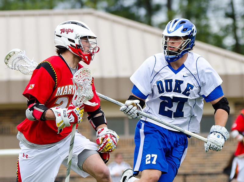 March 5 2011: Duke defender Chris Hipps (27) defends Maryland player.