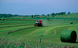 Tractor Hay Bales Agriculture