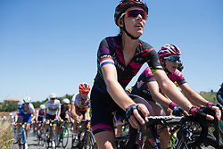 Hannah Barnes (GBR) of CANYON//SRAM Racing rides mid-pack in the second lap of Stage 6 of the Giro Rosa - a 116.1 km road race, starting and finishing in Roseto Degli Abruzzi on July 5, 2017, in Teramo, Italy. (Photo by Balint Hamvas/Velofocus.com)