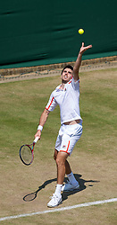 LONDON, ENGLAND - Monday, June 28, 2010: Colin Fleming (GBR) during the Gentlemen's Doubles 2nd Round match on day seven of the Wimbledon Lawn Tennis Championships at the All England Lawn Tennis and Croquet Club. (Pic by David Rawcliffe/Propaganda)