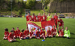 RHOSYMEDRE, WALES - Sunday, May 5, 2019: Connah's Quay Nomads players line-up for a team group photograph before the FAW JD Welsh Cup Final between Connah's Quay Nomads FC and The New Saints FC at The Rock. (Pic by David Rawcliffe/Propaganda)