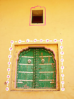 Painted window, Amber, Rajasthan.