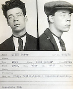 Vintage mugshots from the 1930s <br /> <br /> This mug shot comes from a police identification book believed to be<br /> from the 1930s. It was originally found in a junk shop by a member of<br /> the public and subsequently donated to Tyne & Wear Archives & Museums.<br /> No information is available to confirm which police force compiled it<br /> but evidence suggests it's from the Newcastle upon Tyne area. <br /> copyright must read: 'Tyne & Wear Archives & Museums/Exclusivepix<br />  Many of these intriguing photographs are also accompanied by a description of the person and the crime(s) they have committed.<br /> Peter Quinn, News vendor, his crime, Shop, public house and warehouse breaker<br />  ©exclusivepix