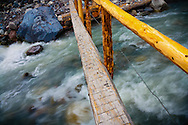 Footbridge over the Nisqually River - Mt. Rainier National Park, WA