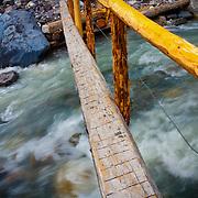 Footbridge over the Nisqually River - Mt. Rainier National Park, WA