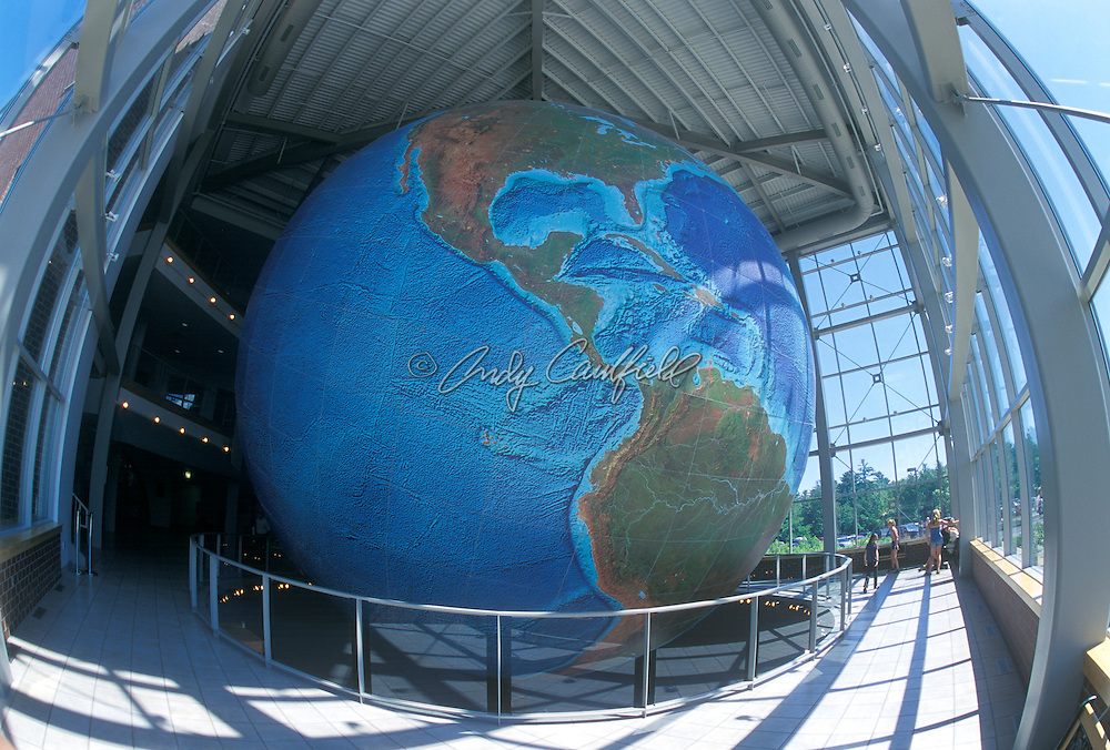 """Eartha"" World's largest rotating globe, 42 ft diameter. Located at Delorme Company-Yarmouth, Maine  USA..Not Released."