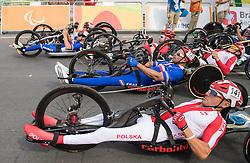 WILK Rafal, H4, POL, Cycling, Road Race, JEANNOT Joel, FRA, BOSREDON Mathieu à Rio 2016 Paralympic Games, Brazil