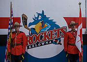 KELOWNA, CANADA - NOVEMBER 11:  RCMP at the Kelowna Rockets game on November 11, 2017 at Prospera Place in Kelowna, British Columbia, Canada.  (Photo By Cindy Rogers/Nyasa Photography,  *** Local Caption ***