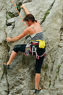 Rock climbers, Paklenica National Park, Velebit Nature Park, Rewilding Europe rewilding area, Velebit  mountains, Croatia