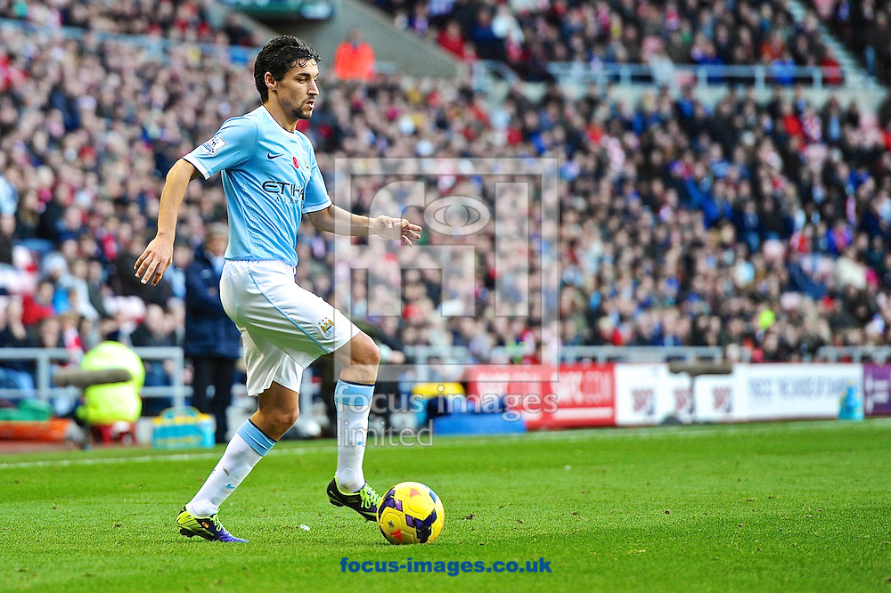 Picture by Ian Wadkins/Focus Images Ltd +44 7877 568959<br /> 10/11/2013<br /> Jes&uacute;s Navas of Manchester City during the Barclays Premier League match at the Stadium Of Light, Sunderland.