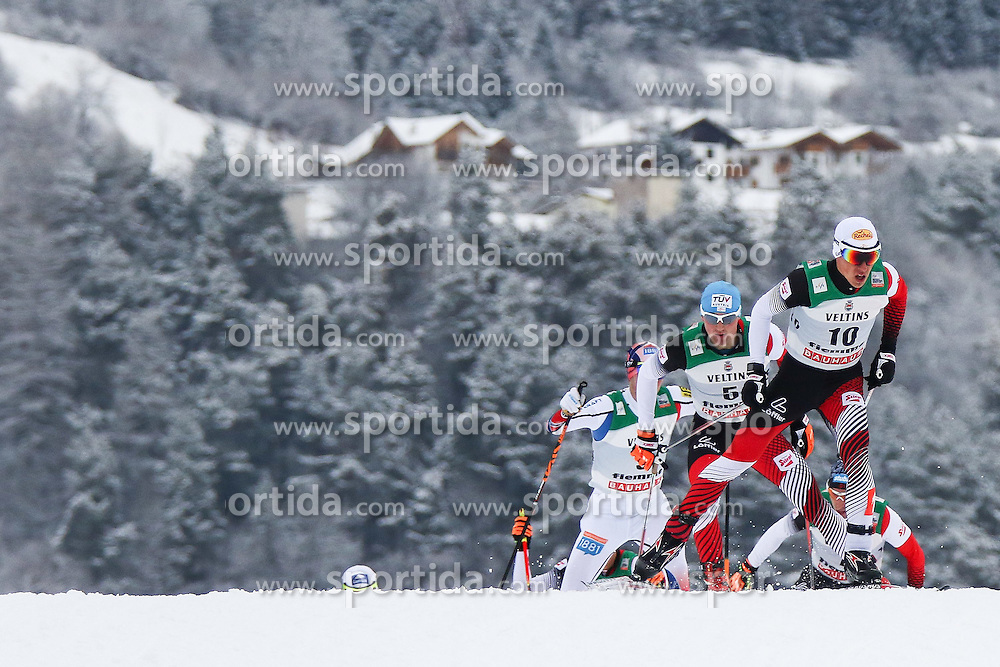 30.01.2015, Langlaufzentrum, Lago di Tesero, ITA, FIS Weltcup Nordische Kombination, Val di Fiemme, Langlauf, im Bild Tomaz Druml (AUT) Sepp Schneider (AUT) // during Cross Country of the FIS Nordic Combined World Cup Val di Fiemme at the Langlaufzentrum in Lago di Tesero, Italy on 2015/01/30. EXPA Pictures © 2015, PhotoCredit: EXPA/ Alice Russolo