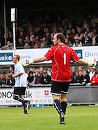 FODBOLD: Mads Hamberg (Helsingør) med bolden under kampen i Ekstra Bladet Cup mellem Elite 3000 Helsingør og FC København den 23. september 2009 på Helsingør Stadion. Foto: Claus Birch