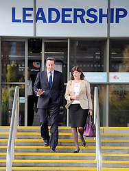 © Licensed to London News Pictures. 04/10/2011. MANCHESTER. UK. Prime Minister David Cameron and Nicky Morgan MP at The Conservative Party Conference at Manchester Central today, October 4, 2011. Photo credit:  Stephen Simpson/LNP