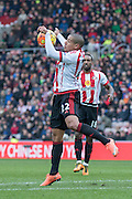Sunderland's Midfielder Wahbi Khazri controls the ball and shoots during the Barclays Premier League match between Sunderland and Manchester United at the Stadium Of Light, Sunderland, England on 13 February 2016. Photo by George Ledger.