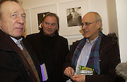 ANTHONY HADEN-GUEST, JAMES BIRCH. Warhol's World. Photography and Television. Hauser and Wirth. Piccadilly, London. 26  January 2006.  ONE TIME USE ONLY - DO NOT ARCHIVE  © Copyright Photograph by Dafydd Jones 66 Stockwell Park Rd. London SW9 0DA Tel 020 7733 0108 www.dafjones.com