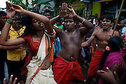 Dancing in a trance. The Adi Vel festival on the streets of Colombo. <br /> Adi Vel Festival Hindu has a unique history going back to 1874.<br /> August 2013.