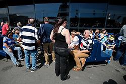 Bristol Rugby fans soak up the atmosphere in the fan zone - Mandatory byline: Rogan Thomson/JMP - 08/05/2016 - RUGBY UNION - Ashton Gate Stadium - Bristol, England - Bristol Rugby v Beford Blues - Greene King IPA Championship Semi Final 2nd Leg.