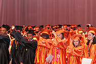 Seniors get ready to turn their tassells during the Stivers School For The Arts commencement at the Dayton Masonic Center, Saturday, May 19, 2012.