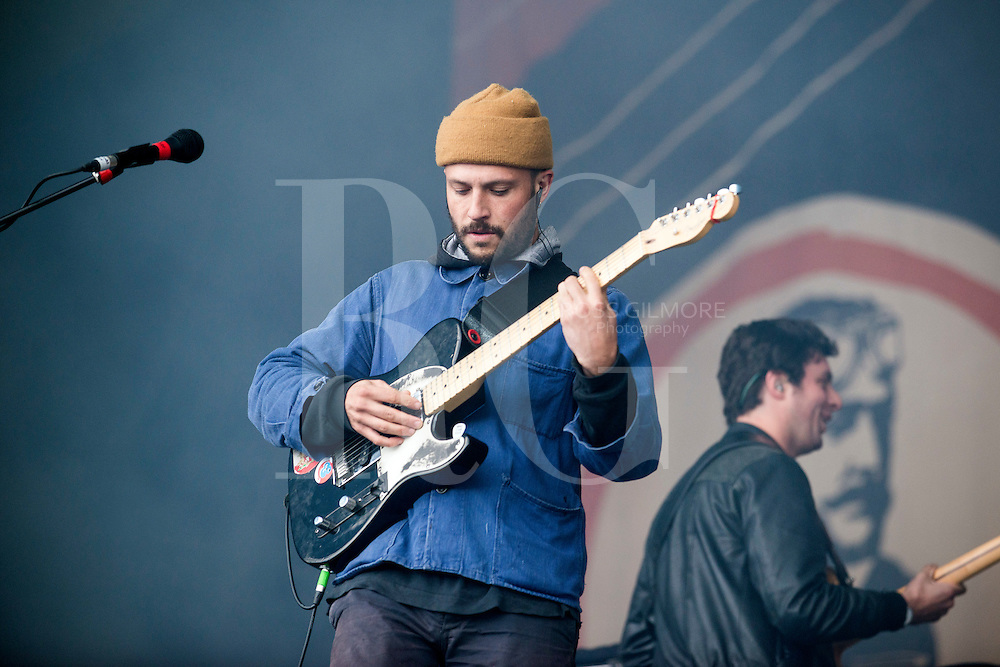 Orlando Weeks of The Maccabees performs at the Aviemore Stopover festival on August 1st 2015,Aviemore, Scotland. Photo by Ross Gilmore
