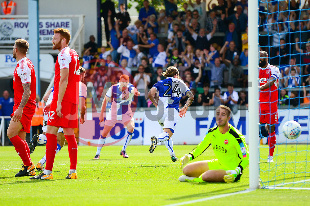 Stuart Sinclair of Bristol Rovers celebrates scoring a goal - Mandatory by-line: Dougie Allward/JMP - 26/08/2017 - FOOTBALL - Memorial Stadium - Bristol, England - Bristol Rovers v Fleetwood Town - Sky Bet League One