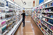 ROGERS, AR - OCTOBER 12:  Valerie Plafcan looks for make up at Walmart Store #4208 on October 12, 2015 in Rogers, Arkansas.  <br /> CREDIT Wesley Hitt for Wall Street Journal<br /> WALSQUEEZE