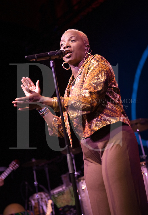 Scotland - January 22: CELTIC CONNECTIONS FESTIVAL Photo of Angelique KIDJO, Angelique Kidjo performing on stage (Photo by Ross Gilmore)