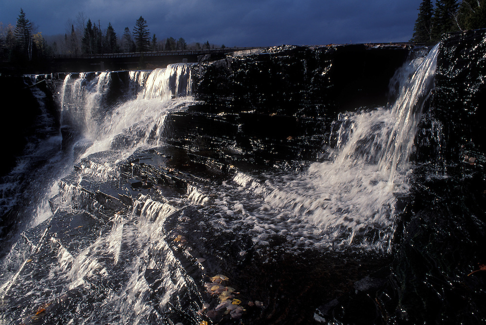 Canada, Ontario, Kakabeka Falls cascades down steep granite cliffs on the Kaministiquia River west of Thunder Bay