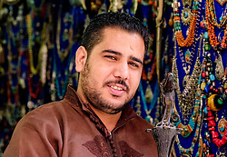A portrait of a stallholder in the medina in Marrakech, Morocco, North Africa<br /> <br /> <br /> (c) Andrew Wilson   Edinburgh Elite media