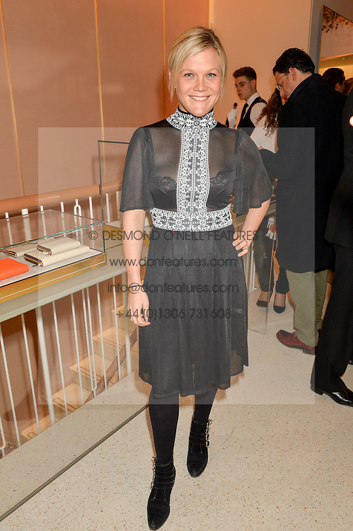 OLIVIA PERRY at the launch of the new J&M Davidson flagship shop at 104 Mount Street, London on 3rd February 2016.