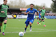 AFC Wimbledon striker Andy Barcham (17) chasing down ball during the EFL Sky Bet League 1 match between AFC Wimbledon and Plymouth Argyle at the Cherry Red Records Stadium, Kingston, England on 21 October 2017. Photo by Matthew Redman.
