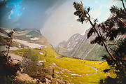 Logan Pass in Glacier National Park diorama