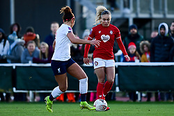 Ebony Salmon of Bristol City is marked by Sophie Bradley-Auckland of Liverpool Women - Mandatory by-line: Ryan Hiscott/JMP - 19/01/2020 - FOOTBALL - Stoke Gifford Stadium - Bristol, England - Bristol City Women v Liverpool Women - Barclays FA Women's Super League