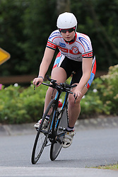 26.06.2015, Einhausen, GER, Deutsche Strassen Meisterschaften, im Bild Nina Schulz (Verein Coelner Strassenfahrer) // during the German Road Championships at Einhausen, Germany on 2015/06/26. EXPA Pictures © 2015, PhotoCredit: EXPA/ Eibner-Pressefoto/ Bermel<br /> <br /> *****ATTENTION - OUT of GER*****