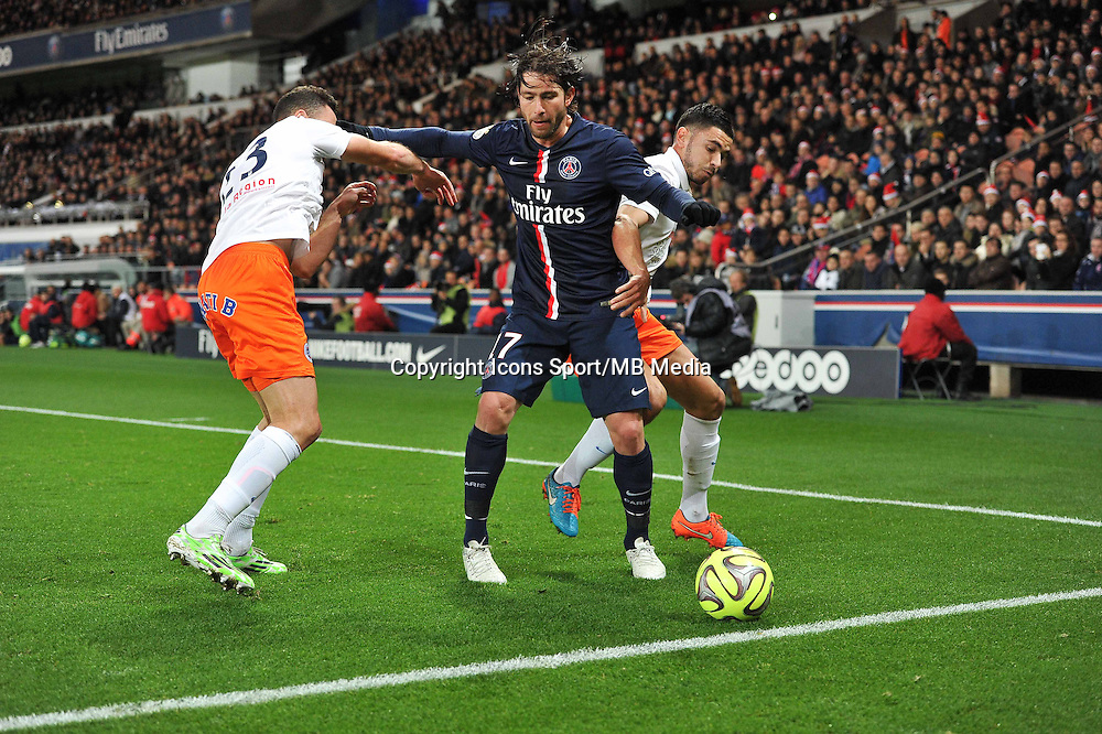 Jamel SAIHI / MAXWELL - 20.12.2014 - Paris Saint Germain / Montpellier - 17eme journee de Ligue 1 -<br />Photo : Aurelien Meunier / Icon Sport