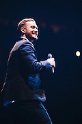 Justin Timberlake performs at the Moda Center in Portland, OR.