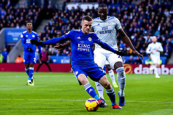 Jamie Vardy of Leicester City takes on Souleymane Bamba of Cardiff City - Mandatory by-line: Robbie Stephenson/JMP - 29/12/2018 - FOOTBALL - King Power Stadium - Leicester, England - Leicester City v Cardiff City - Premier League