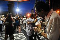 Tango Dancersnd Mate te in the Outdoor Milonga La Glorieta, Buenos Aires, Argentina Image by Andres Morya