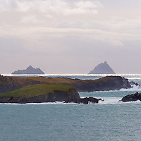 View on the Great Skellig Islands from Valentia Island, Ring of Kerry, Ireland / sk028 I love the Skelligs, ****** <br />