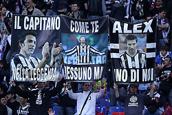 20.05.2012, Stadio Olympico, Rom, ITA, TIM Cup, Juventus Turin vs SSC Neapel, Finale, im Bild Tifosi Juventus con striscioni per Alessandro Del Piero // during the final football match of Italian TIM Cup between Juventus Turin and SSC Neapel at Stadio Olympico, Rome, Italy on 2012/05/20. EXPA Pictures © 2012, PhotoCredit: EXPA/ Insidefoto/ Paolo Nucci..***** ATTENTION - for AUT, SLO, CRO, SRB, SUI and SWE only *****