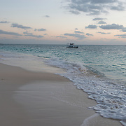 Seven Mile Beach in the afternoon. George Town, Grand Cayman.
