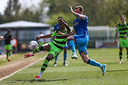 Forest Green Rovers Reece Brown(10) clears the ball during the EFL Sky Bet League 2 match between Forest Green Rovers and Grimsby Town FC at the New Lawn, Forest Green, United Kingdom on 5 May 2018. Picture by Shane Healey.