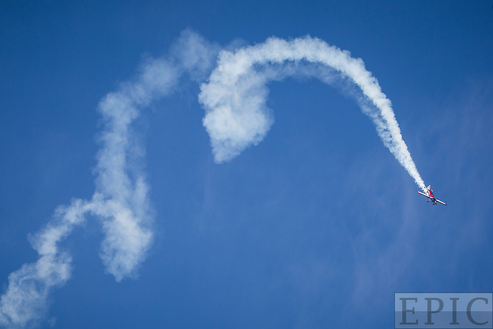 RENO, NV - SEPTEMBER 14: Brad Wursten performs air acrobatics at the Reno Championship Air Races on September 14, 2017 in Reno, Nevada. (Photo by Jonathan Devich/Getty Images) *** Local Caption *** Brad Wursten