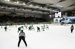 Players in action during Ice Hockey match between HK SZ Olimpija and EHC Alge Elastic Lustenau in Semifinal of Alps Hockey League 2018/19, on April 5, 2019, in Arena Tivoli, Ljubljana, Slovenia. Olimpija win the game and qualify to Final of AHL. Photo by Matic Klansek Velej / Sportida