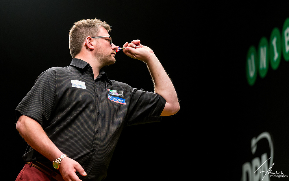 MELBOURNE, Australia - Friday 18 August 2017: James Wade during the Unibet Melbourne Dart Masters at Hisense Arena on Friday 18 August 2017.<br /> Photo Credit: Tim Murdoch/Tim Murdoch Photography