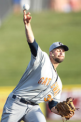 24 July 2015:  Pitcher Vincent Molesky during a Frontier League Baseball game between the Gateway Grizzlies and the Normal CornBelters at Corn Crib Stadium on the campus of Heartland Community College in Normal Illinois