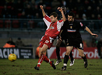 Daryl McMahon and Scott McGleish.<br /> Leyton Orient v Northampton Town, Coca Cola League 2, London. 14/01/06 Photo by Barry Bland