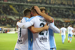 April 29, 2018 - Turin, Piedmont, Italy - Sergej Milinkovic-Savic (SS Lazio) celebrates with teammates after scoring the goal of the victory during the Serie A football match between Torino FC and SS Lazio at Olympic Grande Torino Stadium on April 29, 2018 in Turin, Italy..Final results is 0-1. (Credit Image: © Massimiliano Ferraro/NurPhoto via ZUMA Press)