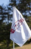 WASSENAAR / Den Haag -  wapen op holevlag. Koninklijke Haagsche Golf Club    COPYRIGHT KOEN SUYK